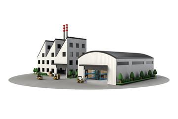 工場と倉庫