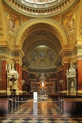 Interior of the Basilica of St. Stephen in Budapest