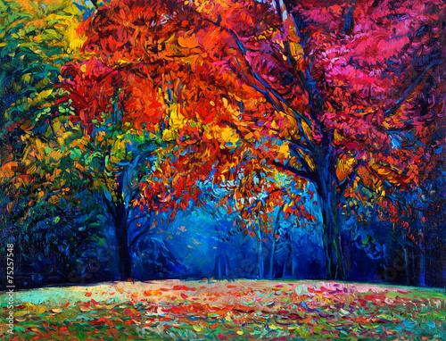 Autumn landscape - 75257548