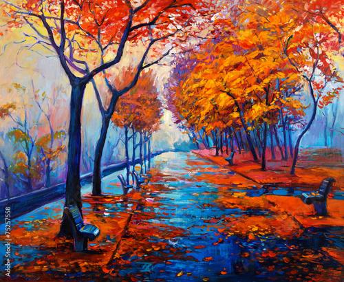 Autumn landscape - 75257558