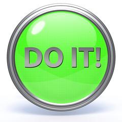 Do it circular icon on white background