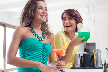 Women Enjoying Cocktail