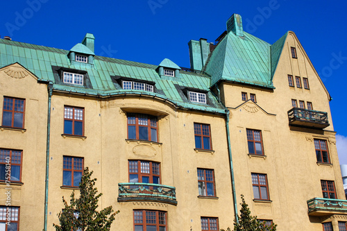 canvas print picture Jugendstil in Helsinki