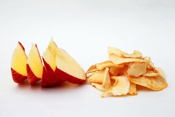 fresh and dried apple