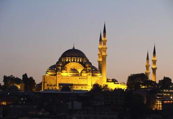 Suleymaniye Mosque in Istanbul,Turkey.