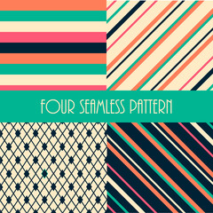 Four seamless  pattern