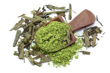 Pulver, grüner Tee