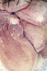 ham meat as food background