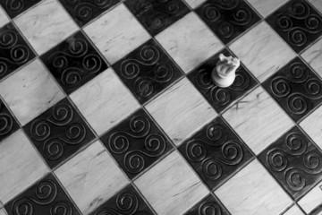 Scacchi fotografati su scacchiera