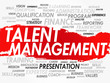 Постер, плакат: Word cloud of Talent Management related items vector
