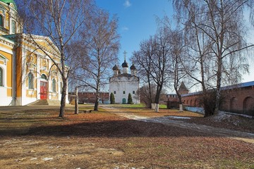 Churches in the Zaraysk Kremlin, Russia
