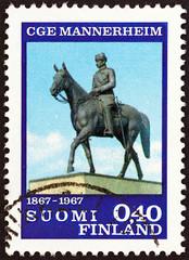 Mannerheim Statue, Helsinki (Finland 1967)
