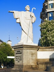 Sculpture of Apostle Andrew in Kiev, Ukraine