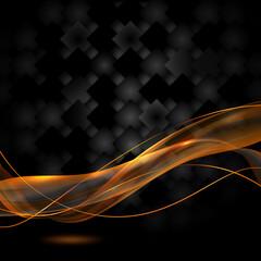 czarne tło i ogniste wstęgi