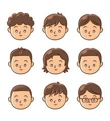 男の子 顔