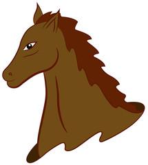 Vector Mustang Head