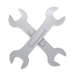 Wrench 3d illustration
