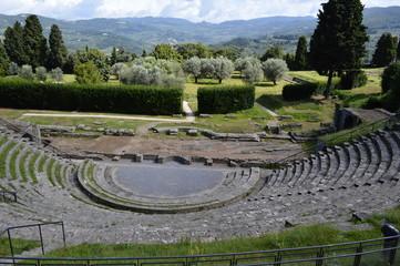 rovine romane di fiesole italia