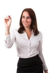 Businessfrau mit einem Stift