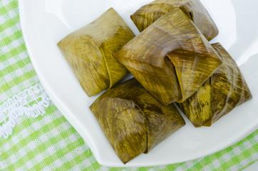 Stuffed Dough called Ka-Nhom-Tian