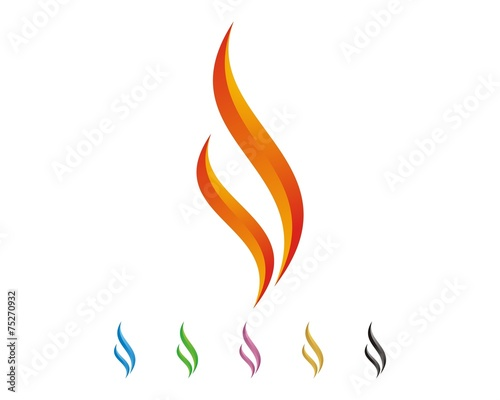 Szablon logo płomienia