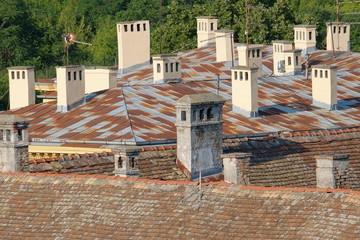 Chimneys Of Petrovaradin Old Town, Serbia