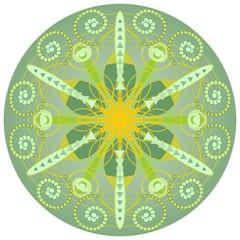 Green mandala for harmony and power obtaining