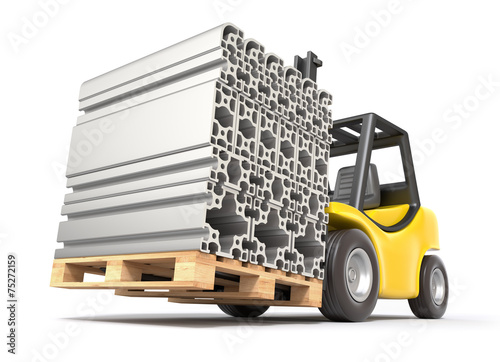 Forklift with aluminium profile