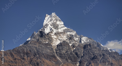 mount machapuchare located in the annapurna mountain range nepal