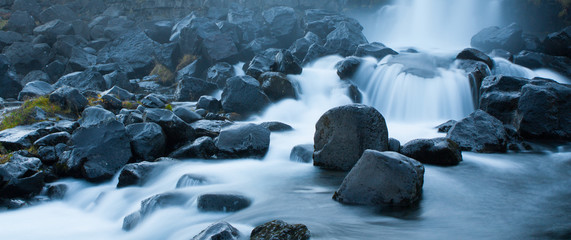 rapids river in iceland