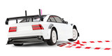 rc race car cornering on 2 wheels