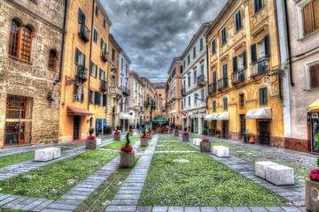 small square in Alghero