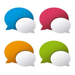 Iconos chat, bocadillos comunicacón social