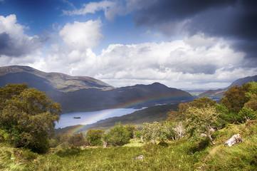 Ireland landscape with hills