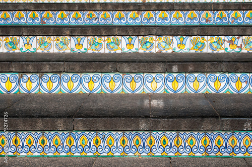 Foto op Canvas Trappen Caltagirone staircase