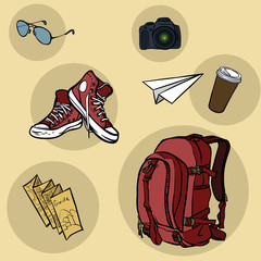 Travel and tourism elements.vector illustration