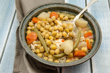 Chickpeas cooked