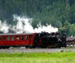 Leinwanddruck Bild - Zillertalbahn in den Alpen - Österreich