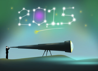 2015 New Year concept for resolutions and greeting card