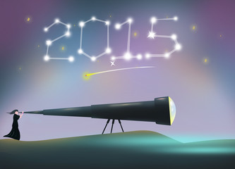 2015 New Year Resolution and Celebration concept