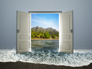 Door open to the beach