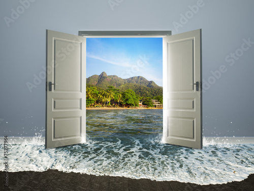 Door open to the beach - 75277964