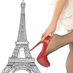 A very sexy women in Paris