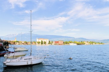view of Maderno on Garda lake in Italy