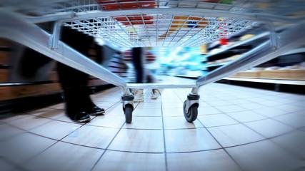 HD 4K+ UHDTV: crazy fast speed of supermarket trolley