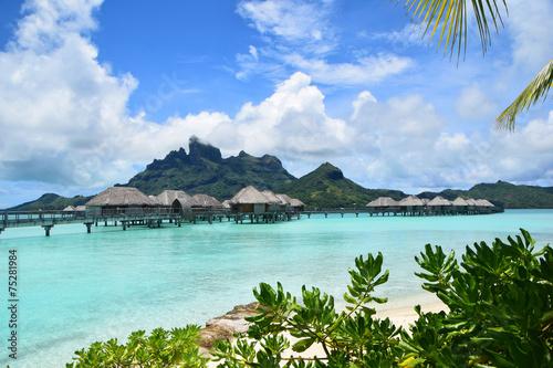 Poster Oceanië Overwater Bungalow Bora Bora