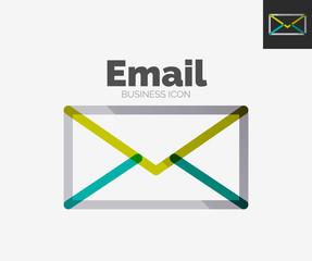 Minimal line design logo, email icon