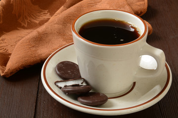Coffee and mint cookies