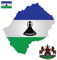 Kingdom of Lesotho Flag