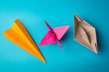 Сolored paper origami
